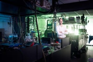 Prof. Dr. Ir. Ronald Hanson in his lab at location A of the Bell test. Photo: QuTech