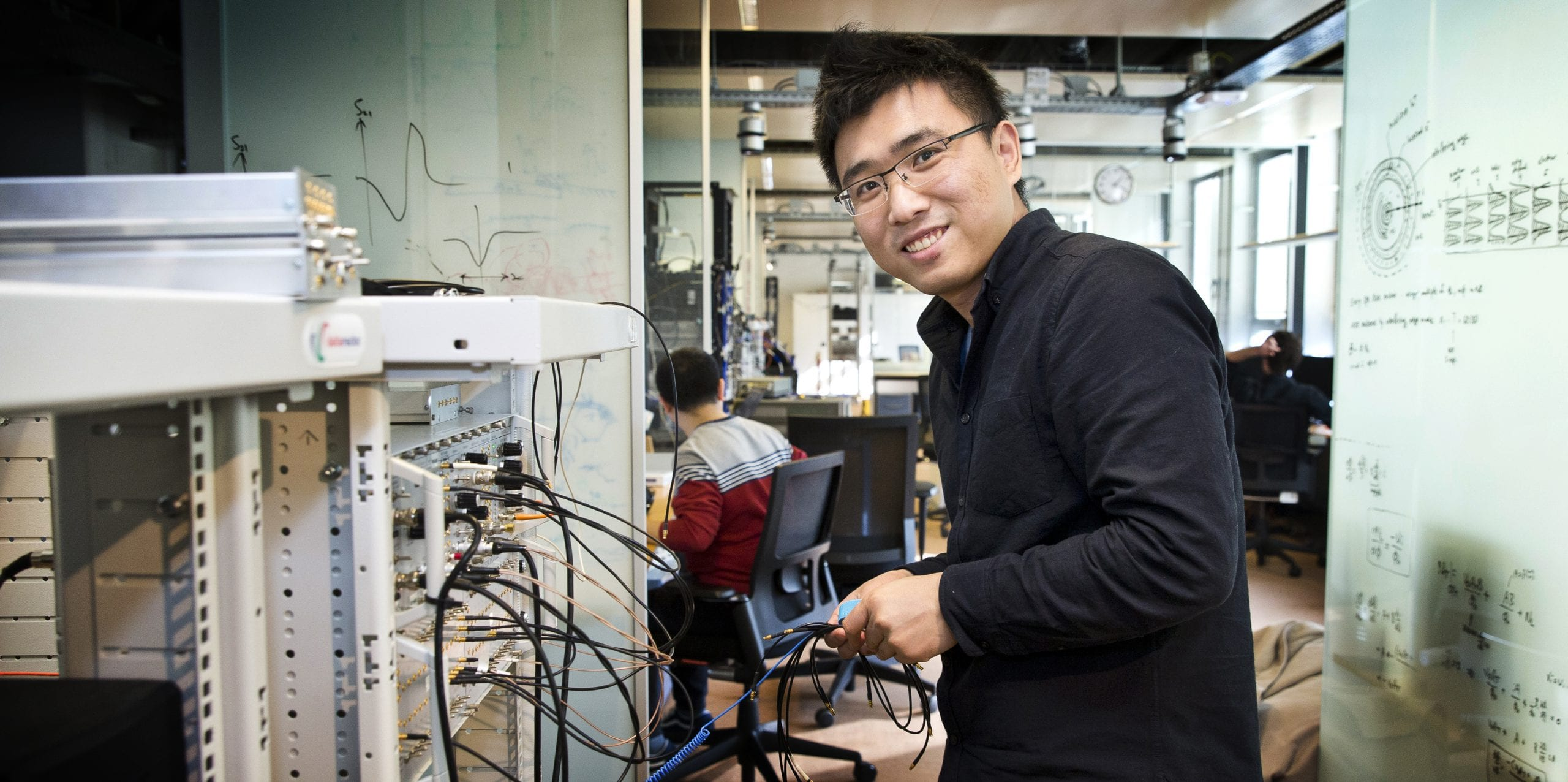 Researcher Hao Zhang at work  – Guus Schoonewille